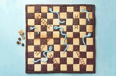 Sophie's Snakes and Ladders Biscuit Board Game Chocolate Squares, Dark Chocolate Chips, Royal Icing Sugar, Gbbo, British Baking, Great British Bake Off, Board Games, Game Boards, So Little Time