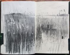 53 Ideas For Nature Drawings Landscapes Inspiration Landscape Sketch, Landscape Drawings, Landscape Illustration, Abstract Landscape, Landscape Paintings, Landscapes, Voyage Sketchbook, Sketchbook Drawings, Artist Sketchbook