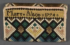 Pocketbook by Mary W. Alsop, Connecticut, 1774