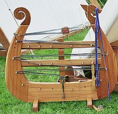 Cool inkle loom! I might want to scale it back a bit, but I love that it looks like a Viking ship.