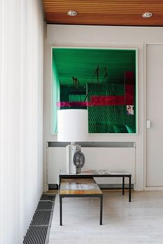 Love this green. From Raf Simons' home.