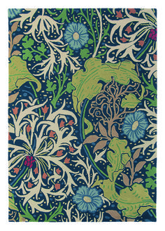 This William Morris Seaweed rug was inspired by the popular Seaweed design from the Morris & Co archive of the work of century designer, artist, writer and socialist, William Morris. The seaweed design dates back to 1901 and involves a free flow William Morris Wallpaper, William Morris Art, Morris Wallpapers, William Morris Patterns, Arts And Crafts House, Inspirational Wallpapers, Hand Tufted Rugs, Arts And Crafts Movement, Wall Treatments