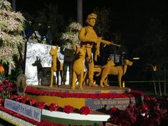 Tribute to military canine heroes. The Natural Balance Pet Foods Rose Parade Float!