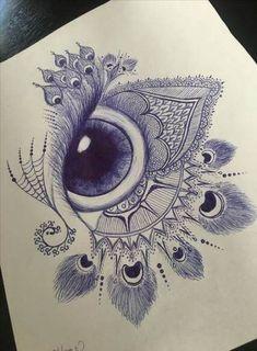 Super Drawing Tattoo Girl Eyes Ideas # tattooing the beautiful . - Super drawing tattoo girl eyes ideas The most beautiful picture for tattoo hand t - Mandala Design, Mandala Art, Mandala Drawing, Easy Mandala, Pencil Art Drawings, Art Drawings Sketches, Tattoo Drawings, Tattoo Sketches, Easy Sketches To Draw
