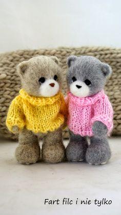 Misie w wiosennych sweterkach :)