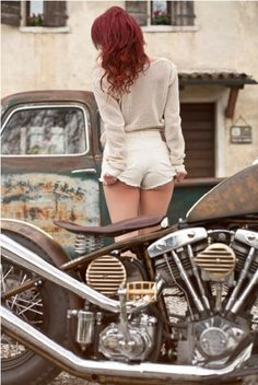 motorcycle & girl