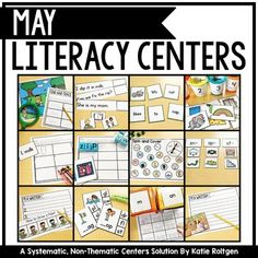 The May Literacy Centers includes 20 literacy centers to use for your kinders any time throughout a year. While these are designed with May in mind, these can be used any time throughout the year in a center or rotation. The five center types are sight words, sort it out, letters and sounds, literacy spotlight, and I'm a writer. Included with the download is a file with labels, tracking cards, student instructions, and more helpful ideas to use these literacy centers to full potential.