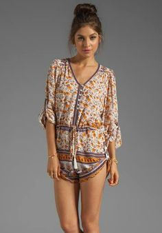 Floral romper. If only I was thin enough I'd be wearing this everyday