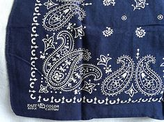 United Arrows Indigo Paisley Bandana Blue Handkerchief