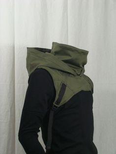 Wasteland Cowl V2 Olive Green por Crisiswear en Etsy