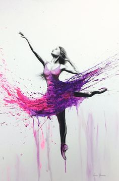 37 Original Artworks curated by Ashvin Harrison, Dancers. Original Art Collection created on Ballerina Kunst, Ballerina Painting, Ballet Drawings, Art Drawings, Art Ballet, Dance Paintings, Art En Ligne, Watercolor Canvas, Dance Photography