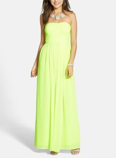 Wow! Crushing on this neon prom gown.