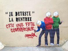Alors qu'un de ses collagesdans les rues de Paris était en train d'être…