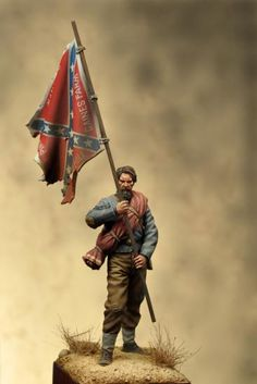 Color Bearer, 11th Mississippi, 1863. Nice model. I would love to have this for my office.
