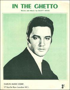 "Elvis Presley ""In the Ghetto"" (1969) — British Sheet Music"