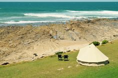 Glamping by the ocean