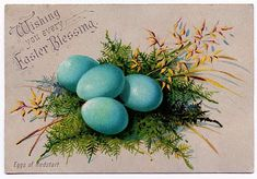 Vintage Clip Art - So pretty - Easter Eggs - The Graphics Fairy