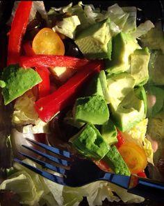 Healthy avocado salad fitness produce lifestyle