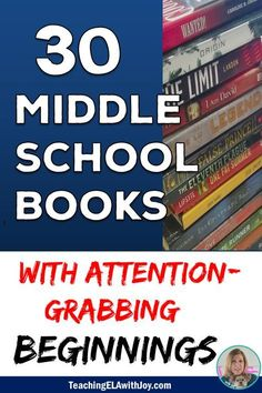 30 middle school novels to grab your students' attention and keep them reading! TeachingELAwithJoy.com