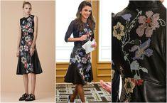 Queen Rania wearing an Alexander McQueen dress (photos from websta.me, lyst.com and vogue.com)