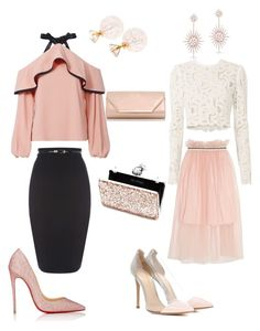 """""""Blush vday looks!"""" by mvictorio on Polyvore featuring Alexis, A.L.C., Mother of Pearl, Christian Louboutin, Gianvito Rossi, Dorothy Perkins, Miss Selfridge and Anne Sisteron"""