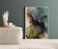 Earth 1 - finnes også som et bildepar . Jotun Lady, Alcohol Ink Art, Living Room Interior, Color Themes, Frames On Wall, Color Inspiration, Branding Design, Abstract Art, Art Prints