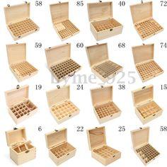 8.98AUD - 685 Slots Essential Oil Aroma Storage Box Wooden Case Wood Container Organizer #ebay #Fashion