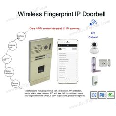 171.00$  Watch now - http://alitdv.worldwells.pw/go.php?t=32681030092 - Android/IOS Remote Control Wireless WIFI Video Doorphone System Fingerprint IP Intercom Home Door Access Control System 171.00$