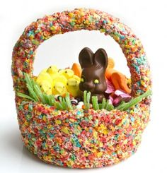 The Homestead Survival | How To Make An Edible Easter Basket Made Out of Cereal | http://thehomesteadsurvival.com