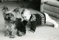 Baby Tess with her guardian, Nullebol Löwenhardt, foundling (Nullebol, not Tess) of the Amsterdam Snoekjesgracht. Nullebol and Tess grew up together. Photo appr. 1984.