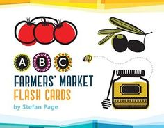 Devour the ABCs with these farmers' market favorites! These deliciously eye-catching flash cards featuring Stefan Page's artwork are a feast for all! Printed on thick, sturdy board, they are perfect for small hands to hold or for decorating a nursery, classroom, or kitchen.