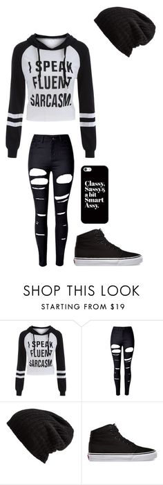 """Untitled #148"" by darksoul7 on Polyvore featuring WithChic, Free People, Vans and Casetify"