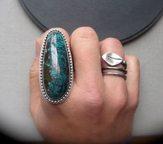 Four Skies Ring  Turquoise and Sterling by KellyBaldwinDesign, $130.00