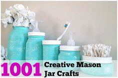 More fun with Mason Jars! #stickersforhome