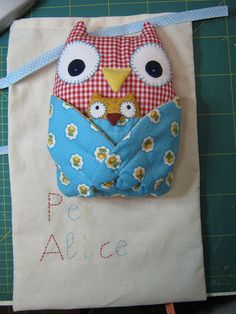 owl by melinda Owl Crafts, Cute Crafts, Owl Pillow, Heart Pillow, Youth Decor, Sewing Crafts, Sewing Projects, Cross Stitch Owl, Burlap Pillows
