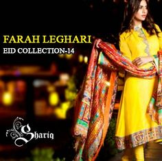 Farah Leghari Eid Dress Collection 2014 by Shariq | Smart Dresses - She9 | Change the Life Style