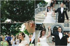 Who doesn't love a good bubble exit?  Lauren & Will // Married at the Duportail House // Almond Photography