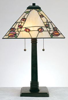 Arts & Crafts Deco Rose Collection Rennie Mackintosh left his distinctive, graphic mark.a clean rosebud amongst twiggy lines. This simple aesthetic has experienced a renaissance as of late, evidenced by the new love of a century-old design trend. Decor, Light Table, Lamp, Glass, Lights, Art Deco, Home Decor, Tiffany Style Lamp, Glass Lighting