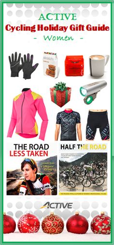 If the only visions dancing in her head this holiday season are Strava QOMs, it's probably best to play it safe and purchase your favorite female cyclist one of these bike-themed gifts. - http://www.active.com/cycling/articles/active-cycling-holiday-gift-guide-women
