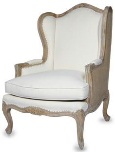 Rue Bernard Chair - Chairs & Chaises, Furniture, Home Decor | Soft Surroundings-love the linen on front and burlap on back