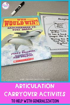 Articulation carryover activities for your students working on those later developing sounds like s,z,r, and sh, ch. Great resources for working on structured conversation and reading tasks for articulation therapy. #slpeeps