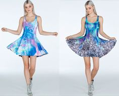 Aurora Frost Vs Galaxy Pastel Inside Out Dress- Limited (A$170)