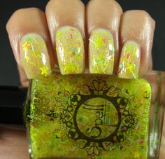 ~Dressed in Yellow She Said Hello~ from Spell Polish, swatched by Claws in Color