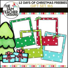 12 Days of Christmas Freebies: Free Holiday Clipart Gift Day from The Teacher! Classroom Clipart, School Clipart, Art Classroom, Free Holiday Clipart, Free Clipart For Teachers, Xmas Clip Art, Owl Clip Art, Digital Paper Free, Doodle Borders
