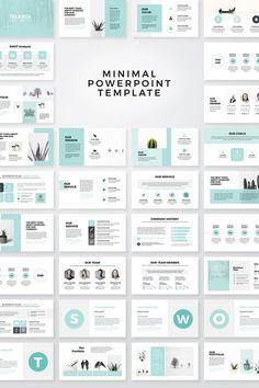 Modèle de présentation PowerPoint propre minimal  Présentation Powerpoint moderne modèle. Modèle de conception propre, moderne et professionnelle. Entièrement modifiable avec graphiques, infographie, maquettes et éléments de marque vectoriels redimensionnables. Nous avons conçu ce produit pour cela