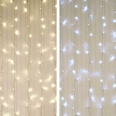 Curtain Lights, LEDs, 5 ft. x 7 ft., Clear Wire, Plug-in, Dual Color