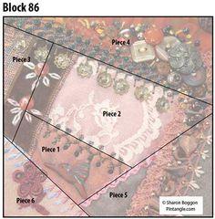 Crazy quilt block 86 diagram