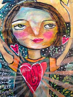 Jessica Sporn Designs: Love Comes In, Love Goes Out - Art Journal Exploration.