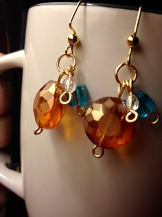 Sunny Sky Themed Beaded Earrings by JamesBrownCreations on Etsy