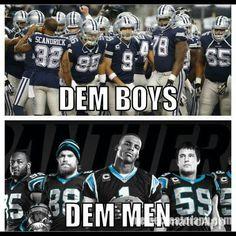 Panthers 33.  Cowboys 14. 11 - 0.